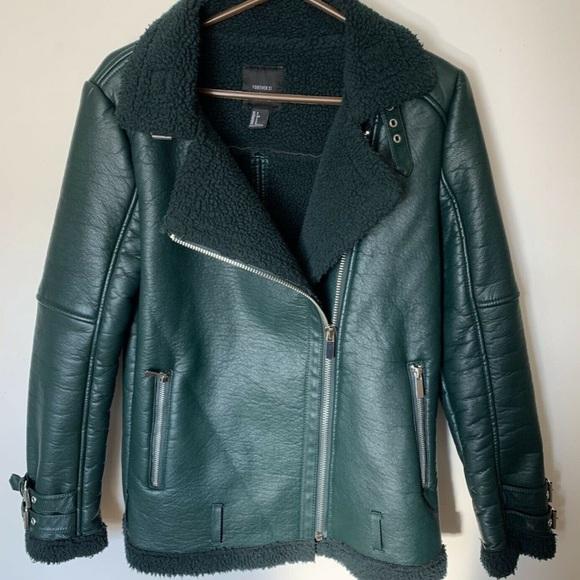 Forever 21 faux moto biker jacket